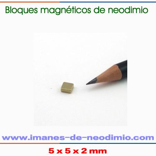 neodimio bloque magnetización axial