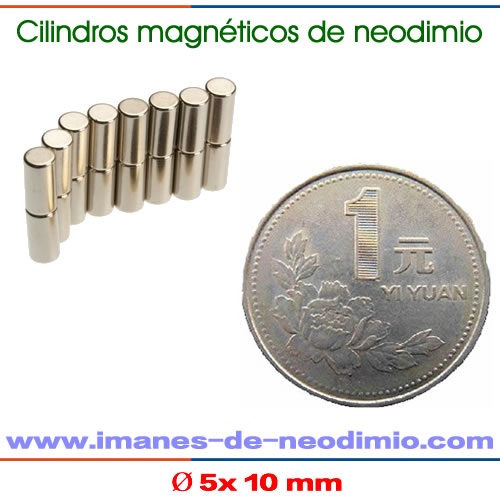 imanes de cilindro capa NiCuNi