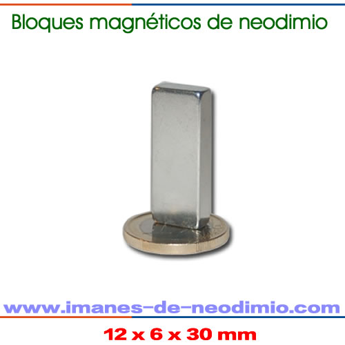 imán rectangular de neodimio