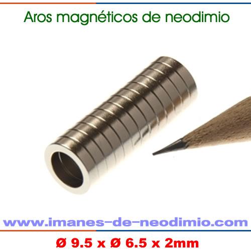 neodimio anillo magnetización radial