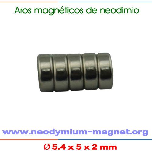 aros magnéticos de neodimio