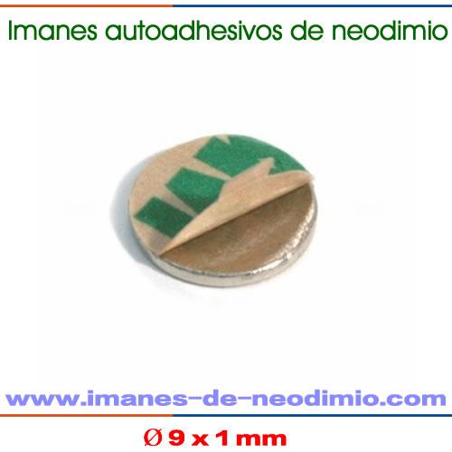 imanes disco neodimio forma de autoadhesivo