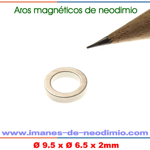 anillos magnéticos de neodimio