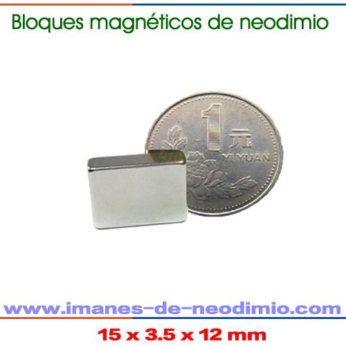 imanes neodimio rectangular mediano