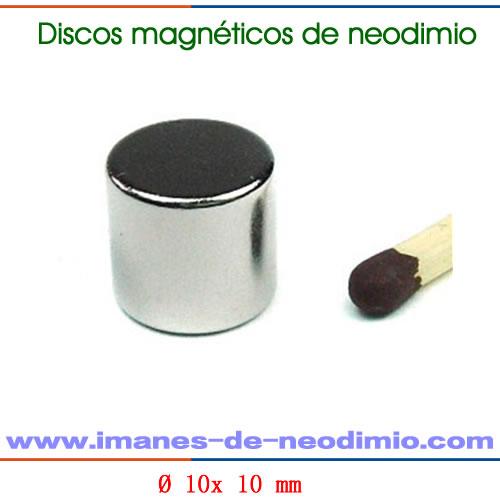 neodimio disco magnetización axial