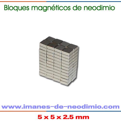 neodimio de bloque magnético permanente