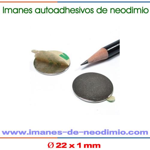 neodimio autoadhesivo 3M disco iman