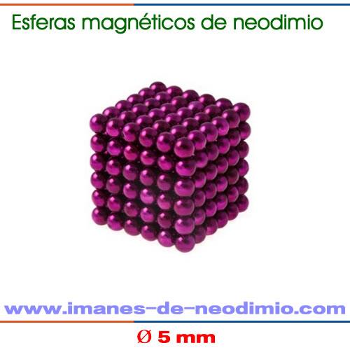 neocube púrpura de 5mm de diámetro