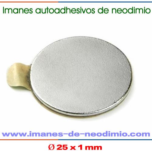 disco imanes 3M autoadhesivo