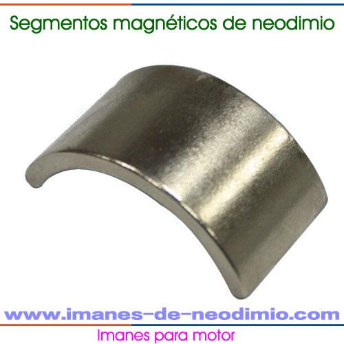 DC motor imanes segmento
