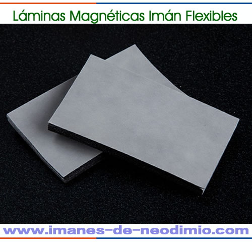 banda magnética ferro flexible PVC hojas din A4
