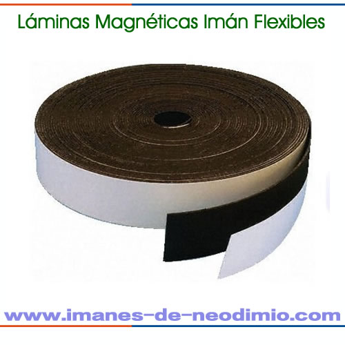 imán flexible natural lámina