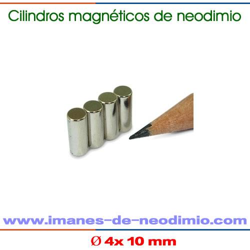 NdFeB imán cilindro permanentes N42M