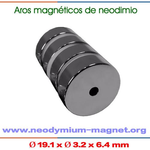 neodimio de aro magnético permanente