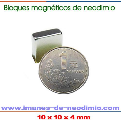 iman de rectangular doble níquel