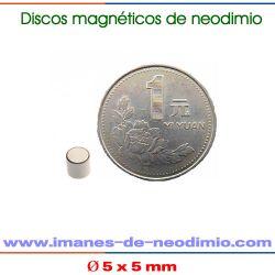 neodimio disco magnetización axial NiCuNi