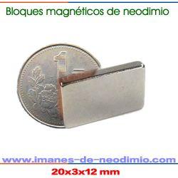 rectángulo magnético permanente