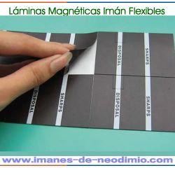 láminas magnéticas reverso adhesivo 3M