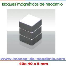 imanes de neodimio bloque niquelado