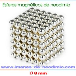 neocube plateado magnéticos de neodimio