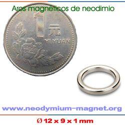 anillo iman de tierras raras NdFeB sinterizado