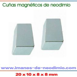 cuñas magnéticos de neodimio