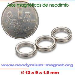 imanes de neodimio anillo niquelado permanentes