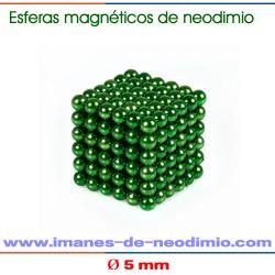 neocube verde imán de neodimio esfera