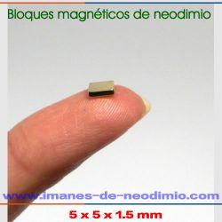 imán de neodimio bloques níquel