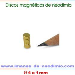 imanes neodimio sinterizado disco oro