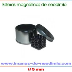 neocube negro de 5mm de diámetro