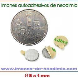 neodimio de autoadhesivo magnético permanente