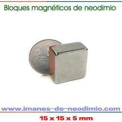 rectangular magnéticos de neodimio