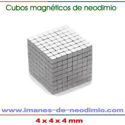 cubos magnéticos de neodimio