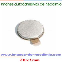 autoadhesivos magnéticos de neodimio