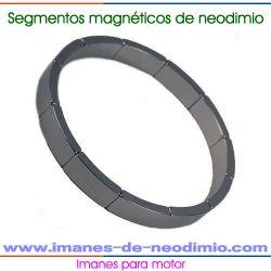 imán segmento de neodimio motor