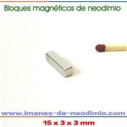 imán de neodimio de rectangular