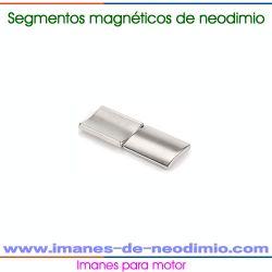 imán segmentos de tierra rara para motor