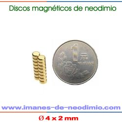 circulares magnético NdFeB iman Oro (Au)