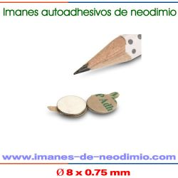 imán disco de neodimio de autoadhesivo