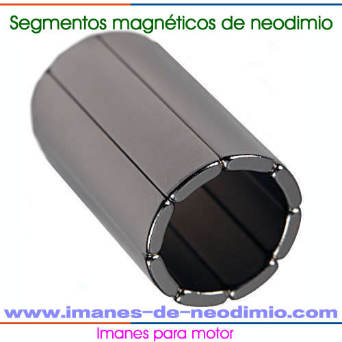 segmentos magnéticos de neodimio