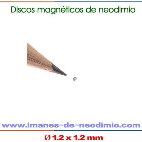 neodimio disco magnetización axial N40