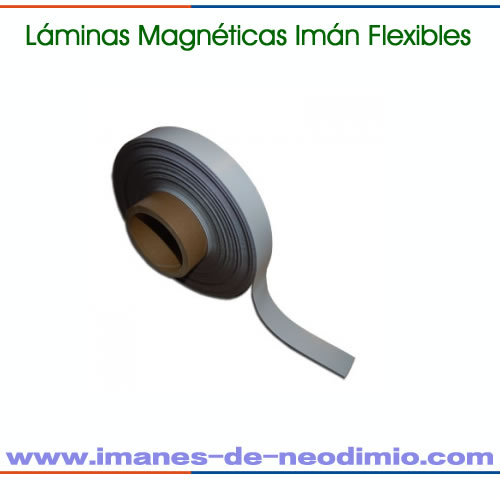 láminas magnéticas reverso blanco PVC