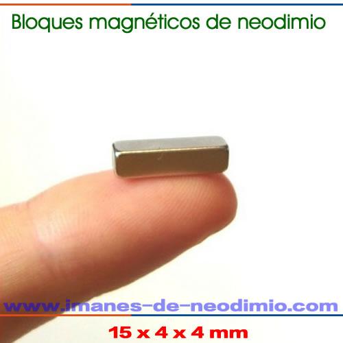 bloques magnéticos de neodimio