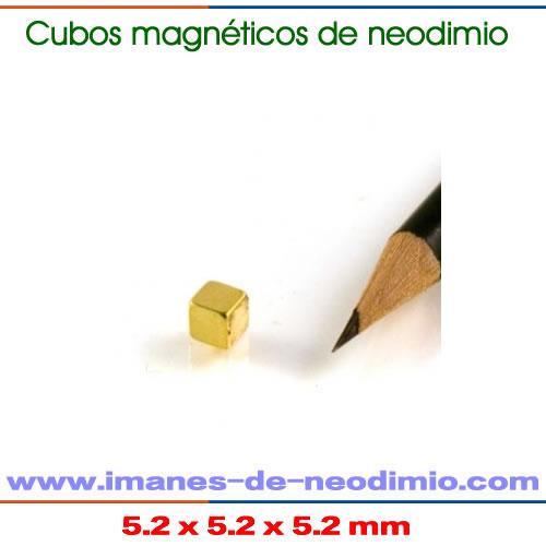imán NdFeB sinterizado cubo oro