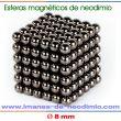 neocubes y esferas magnético 10mm negro